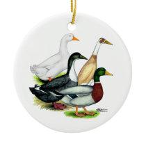 Duck Quartet Ceramic Ornament
