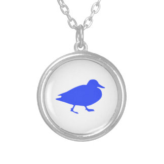 Duck Round Pendant Necklace