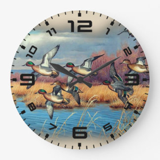 Duck Season Large Clock