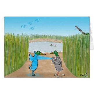 Duck Shooting  Greeting Card