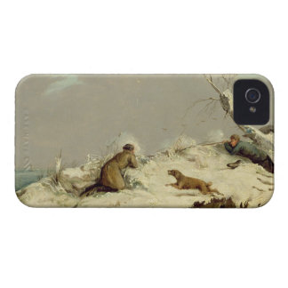 Duck Shooting in Winter (oil on canvas) iPhone 4 Case-Mate Case