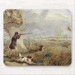 Duck Shooting (oil on canvas) Mouse Pad
