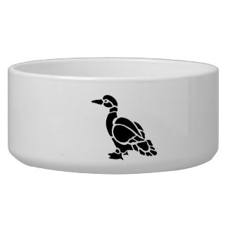 Duck Silhouette Pet Bowl