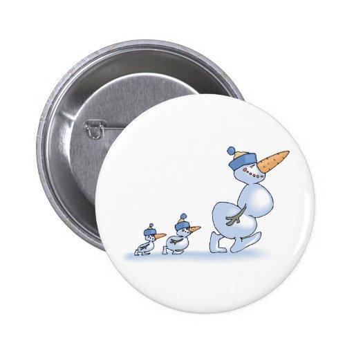 Duck Snowmen 2 Inch Round Button