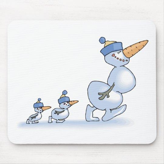 Duck Snowmen Mouse Pad