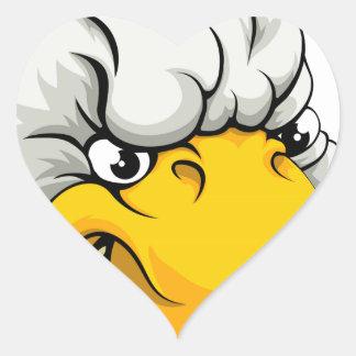 Duck sports mascot heart sticker