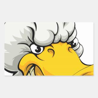 Duck sports mascot rectangle sticker