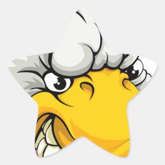 Duck sports mascot star stickers