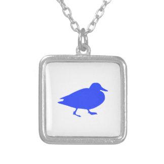 Duck Square Pendant Necklace