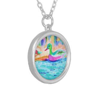 Duck Study Water Color Custom Jewelry