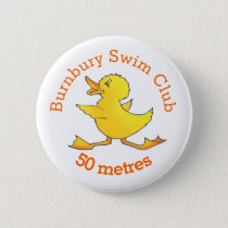 Duck swimming button badge