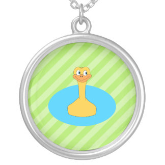 Duck Swimming in a Pond Custom Jewelry