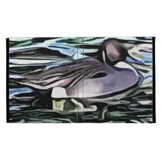 duck swimming painting iPad folio covers