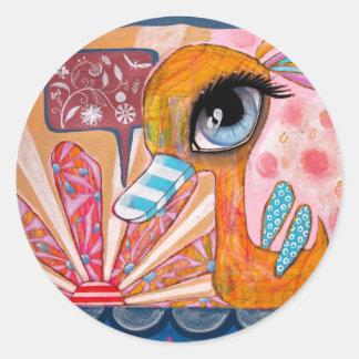 Duck talks Flowers Sticker