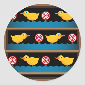 Duck Target Practice Shooting Gallery Classic Round Sticker