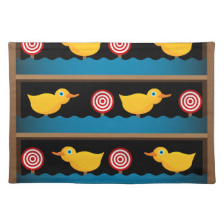 Duck Target Practice Shooting Gallery Cloth Placemat