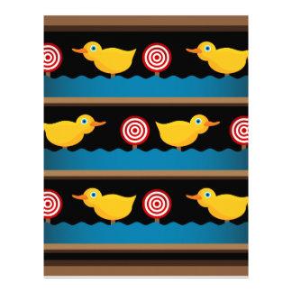 Duck Target Practice Shooting Gallery Letterhead