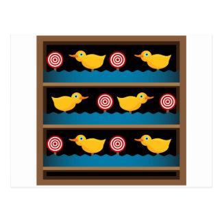 Duck Target Practice Shooting Gallery Postcard