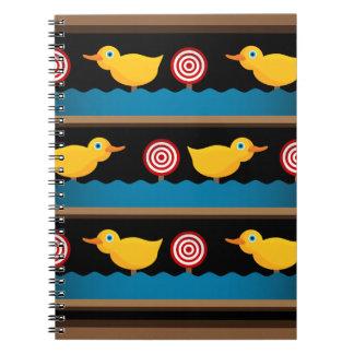 Duck Target Practice Shooting Gallery Spiral Notebook