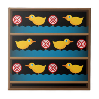 Duck Target Practice Shooting Gallery Small Square Tile