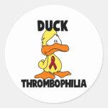 Duck Thrombophilia Stickers