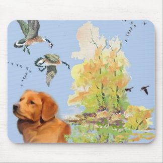 Duck Toller and Wild birds Mouse Pad
