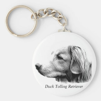 Duck Tolling Retriever Dog Engraving Pictures Keychains