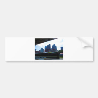 Duck tour window views of Boston City America Bumper Sticker
