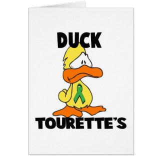 Duck Tourettes Syndrome Card