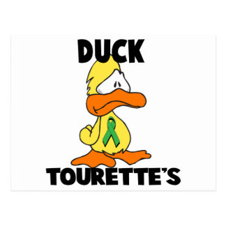 Duck Tourettes Syndrome Postcard