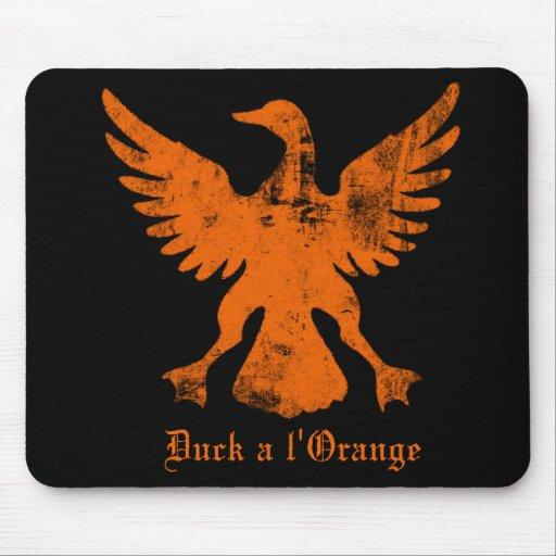 Duck un naranja del l alfombrillas de ratones