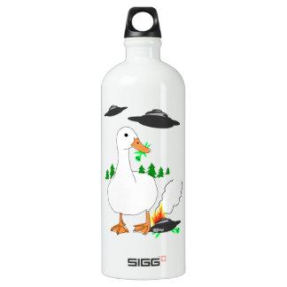 Duck vs. Aliens Aluminum Water Bottle