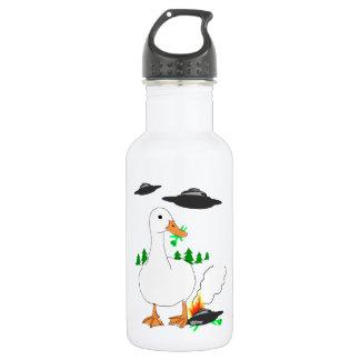 Duck vs. Aliens Stainless Steel Water Bottle