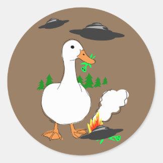 Duck vs. Aliens stickers