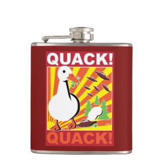 Duck vs. Aliens war poster flask