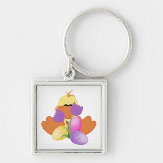 Duck w/ Tulips Keychain