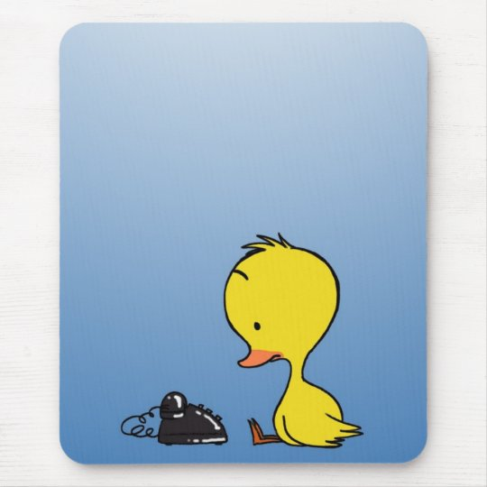 Duck waiting for a call mouse pad