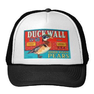 Duck Wall Hood River Pears Vintage Advertisement Trucker Hat