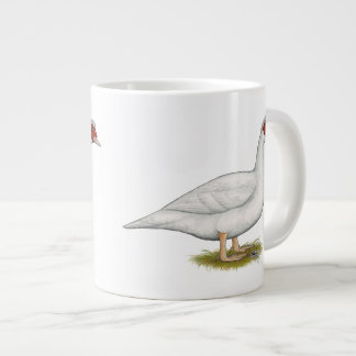 Duck White Muscovy 20 Oz Large Ceramic Coffee Mug