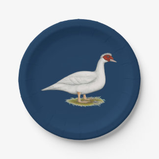 Duck White Muscovy Paper Plate