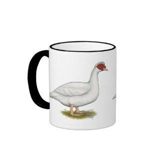 Duck White Muscovy Ringer Coffee Mug