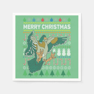 Duck Wildlife Merry Christmas Ugly Sweater Napkin