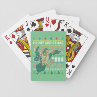 Duck Wildlife Merry Christmas Ugly Sweater Playing Cards