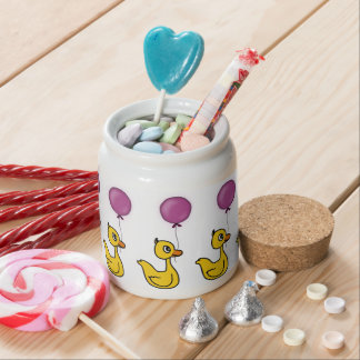 Duck With Balloon Candy Jars
