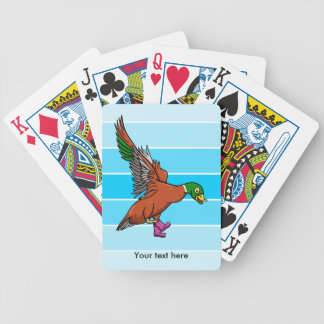 Duck With Boots On Illustration Bicycle Playing Cards