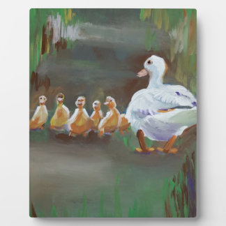 Duck with Ducklings Plaque