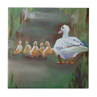 Duck with Ducklings Tile