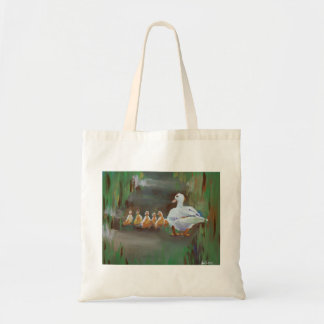 Duck with Ducklings Tote Bag