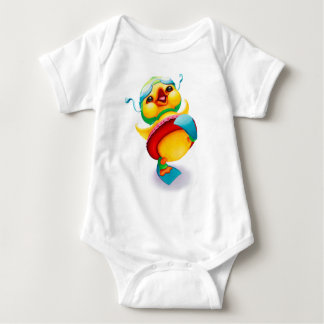 Duck with Swim Goggles, Floatie, and Flippers Baby Bodysuit