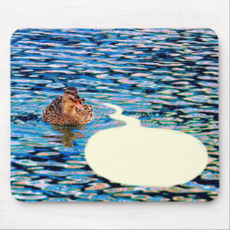 Duck & Word Balloon Mouse Pad